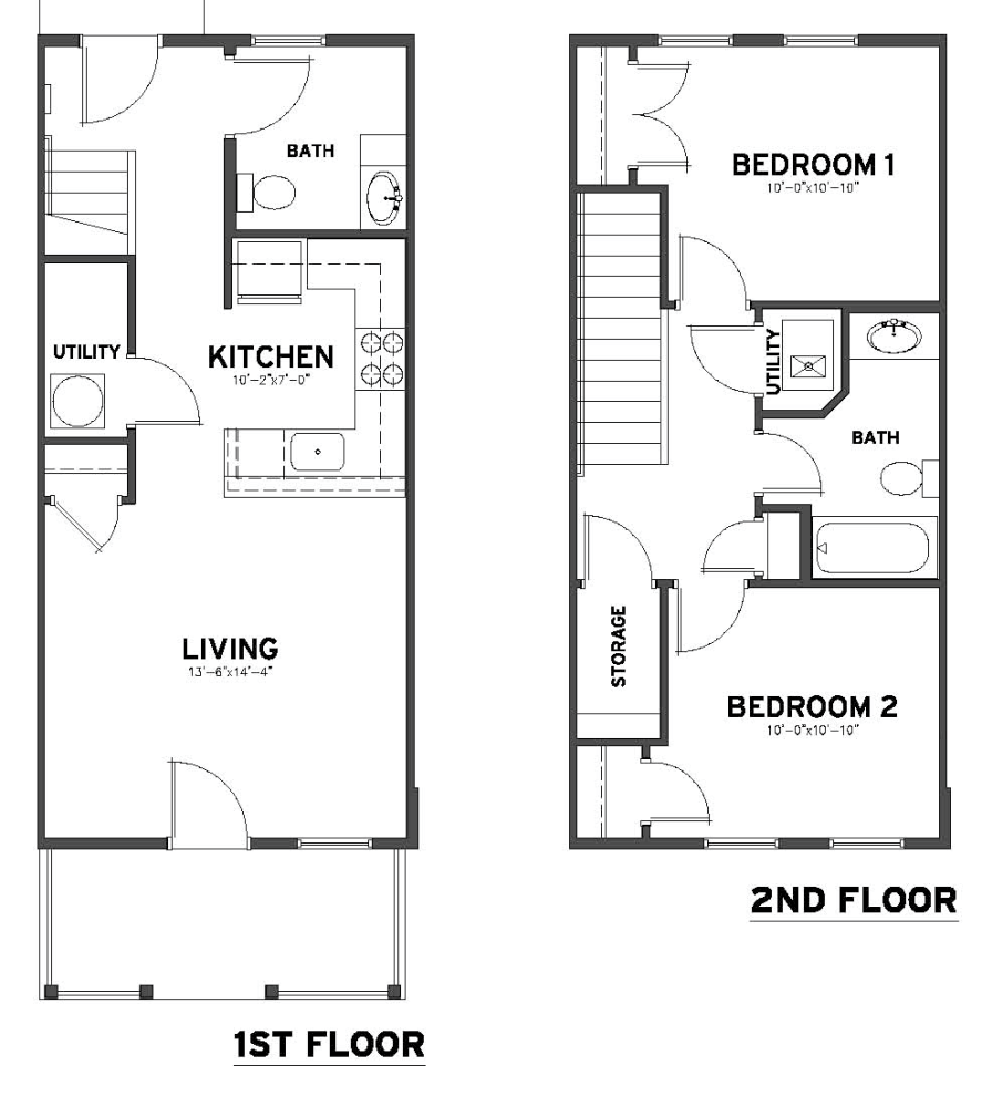 2 bedroom 1 1 2 bath townhome plowfield square for 2 bedroom 2 bath apartment floor plans